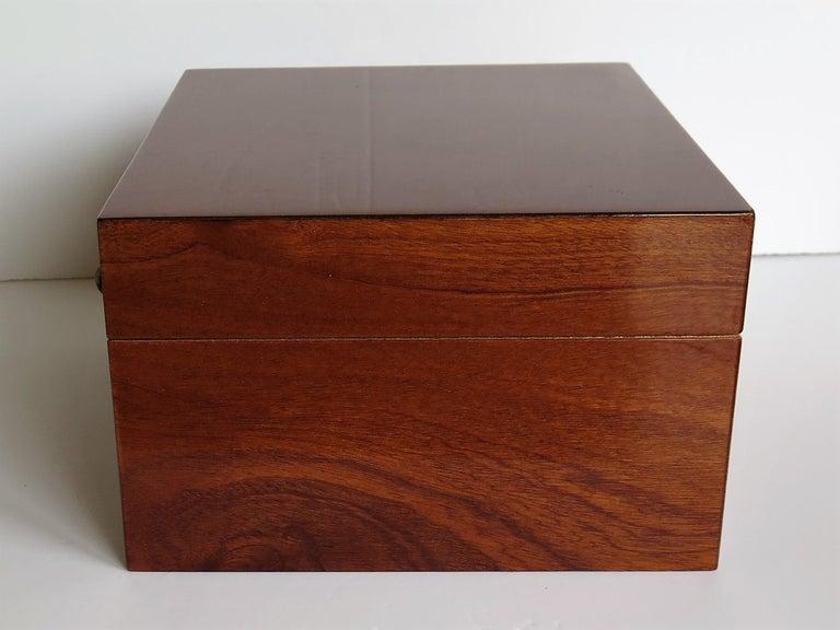20th Century Edwardian Mahogany Lidded Box with Lock and Key Fine Quality, circa 1910 For Sale