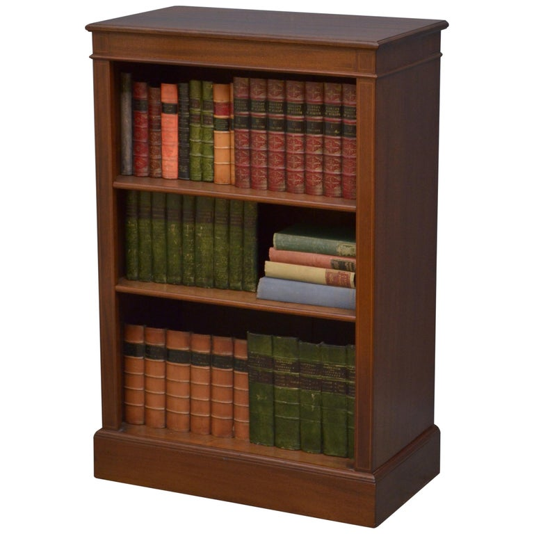 Edwardian Mahogany Low Bookcase For Sale At 1stdibs