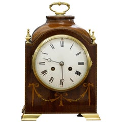 Edwardian Mahogany Mantel Clock by S.Marti