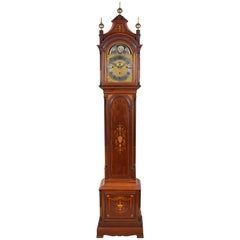 Edwardian Mahogany Musical Grandfather Clock