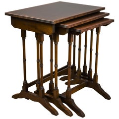 Edwardian Mahogany Nest Tables