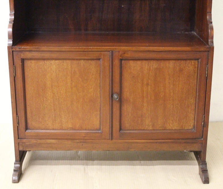 Edwardian Mahogany Open Bookcase For Sale At 1stdibs