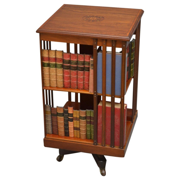 Edwardian Mahogany Revolving Bookcase For Sale At 1stdibs