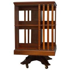 Edwardian Mahogany Revolving Bookcase