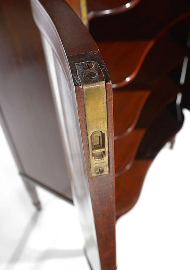 Late 19th Century Edwardian Mahogany and Satinwood Inlaid Music Cabinet For Sale
