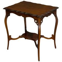 Edwardian Mahogany Window Table