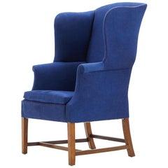 Edwardian Mahogany Wing Armchair