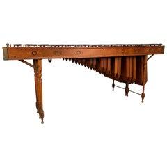 Edwardian Marquetry Marimba / Xylophone