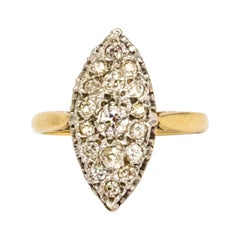 Edwardian Marquise Diamond and 9 Carat Gold Ring