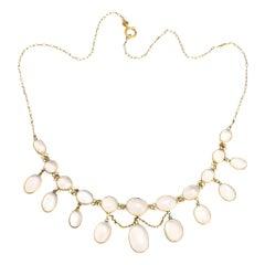 Edwardian Moonstone Festoon Necklace
