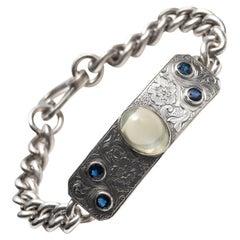 Edwardian Moonstone & Sapphire Bracelet