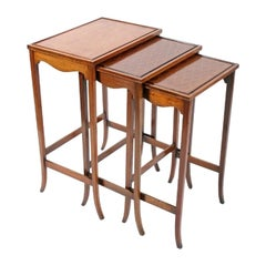 Edwardian Nest of Three Tables, 20th Century