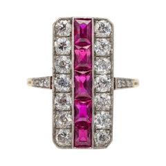 Edwardian No-Heat Burma Ruby and Diamond Ring Over 3.25 Carats