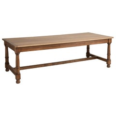 Edwardian Oak Dining Table