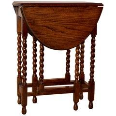 Edwardian Oak Gate Leg Table, circa 1900