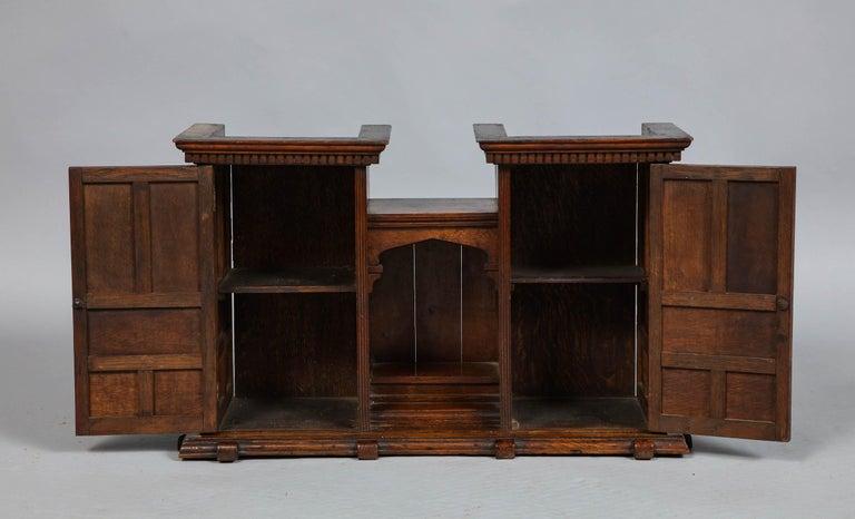 Edwardian Oak Hanging or Desk Cabinet For Sale 5