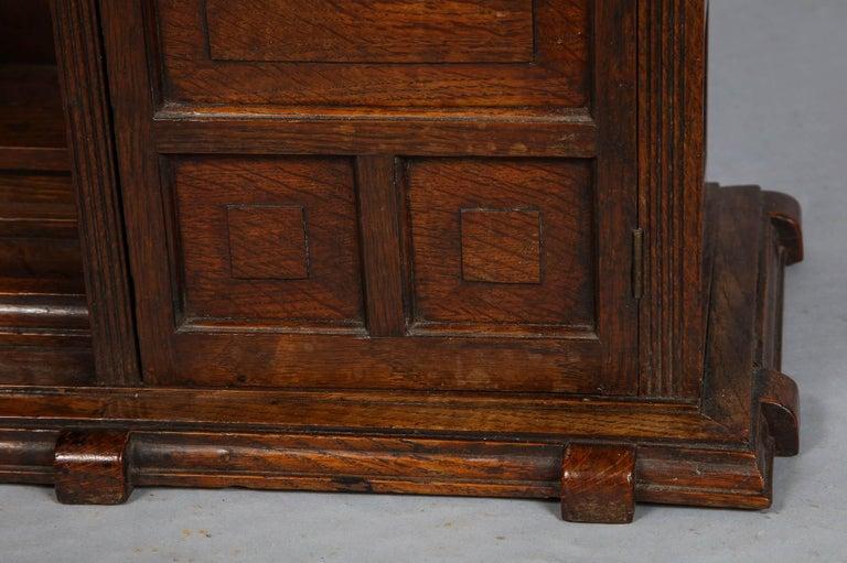 English Edwardian Oak Hanging or Desk Cabinet For Sale