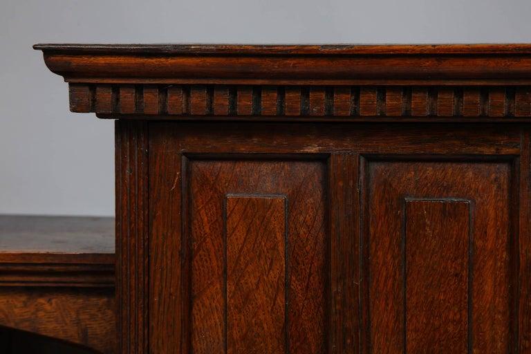 19th Century Edwardian Oak Hanging or Desk Cabinet For Sale