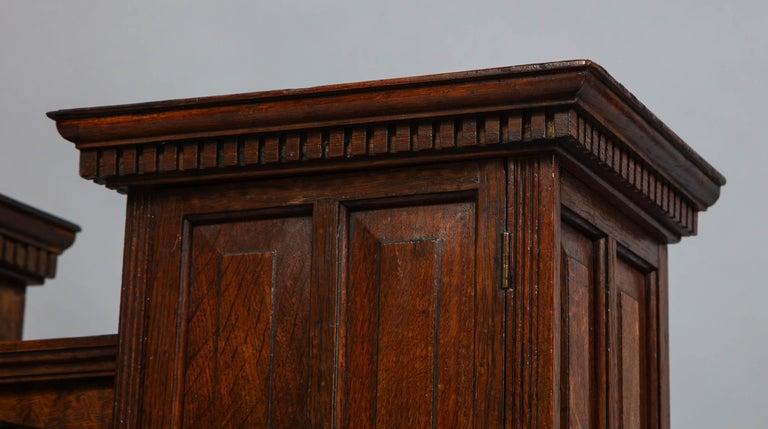 Edwardian Oak Hanging or Desk Cabinet For Sale 2