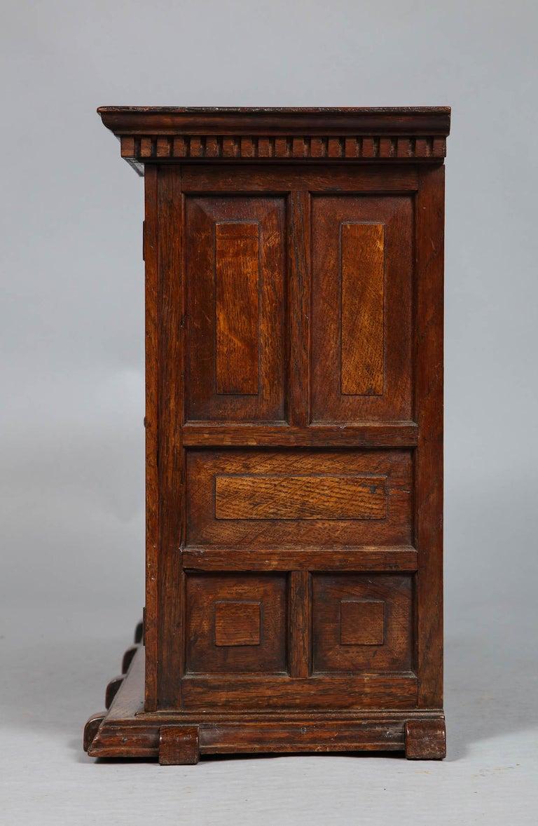 Edwardian Oak Hanging or Desk Cabinet For Sale 3