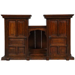 Edwardian Oak Hanging or Desk Cabinet