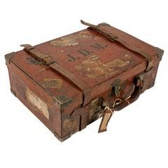 Edwardian Oak Lined Cartridge Case
