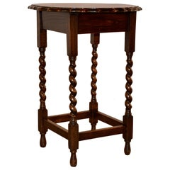 Edwardian Oak Side Table, circa 1900