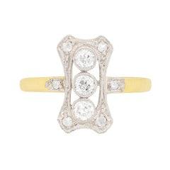 Edwardian Old Cut Diamond Cluster Ring, circa 1910