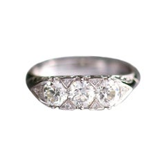 Edwardian Old Cut Diamond Engagement Ring