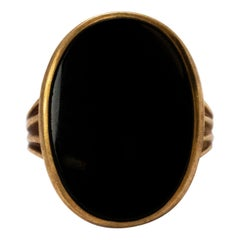 Edwardian Onyx Yellow Gold Gents Ring