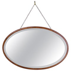 Edwardian Oval Mahogany Mirror