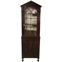 Edwardian Period Adams Style Slender Mahogany Bookcase
