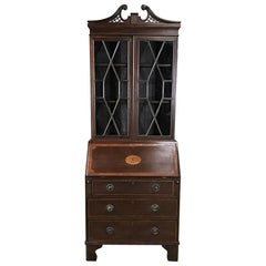 Edwardian Period English Secretary, Bookcase