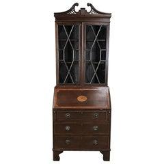 Edwardian Period English Secretary, Bookcase