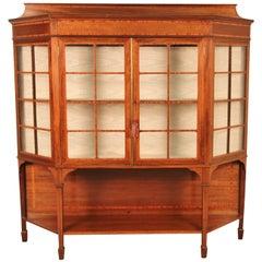 Edwardian Period Inlaid Mahogany Display Cabinet