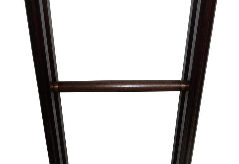 Carved Edwardian Period Mahogany Folding Library Ladder, American For Sale