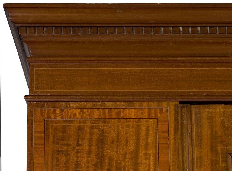 Edwardian Period Mirror Door Wardrobe Armoire Closet For