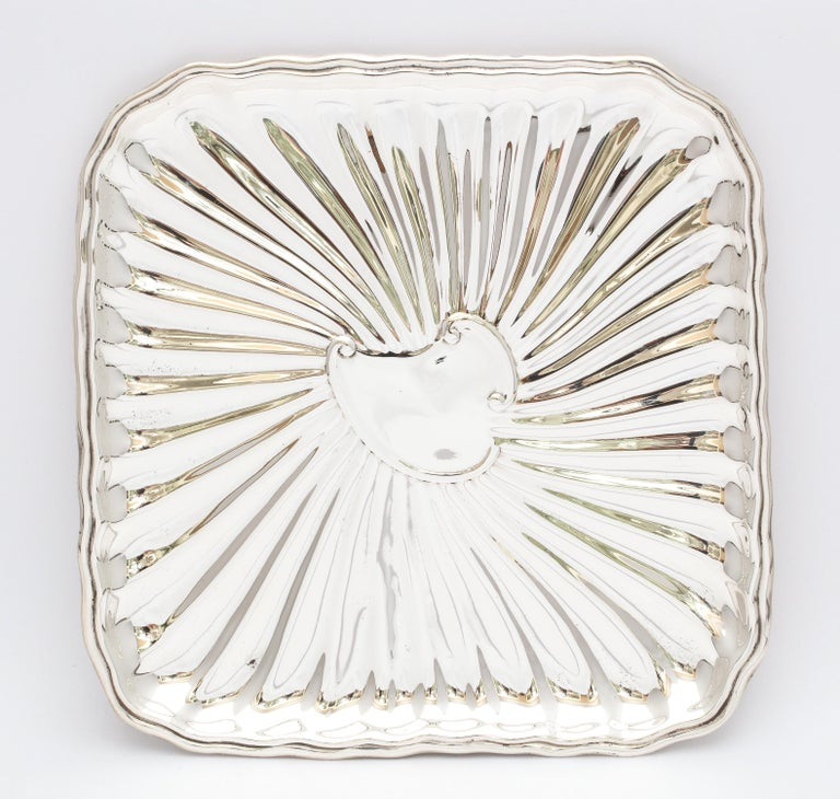 Edwardian Period Sterling Silver Card Tray, J.E. Caldwell For Sale 5