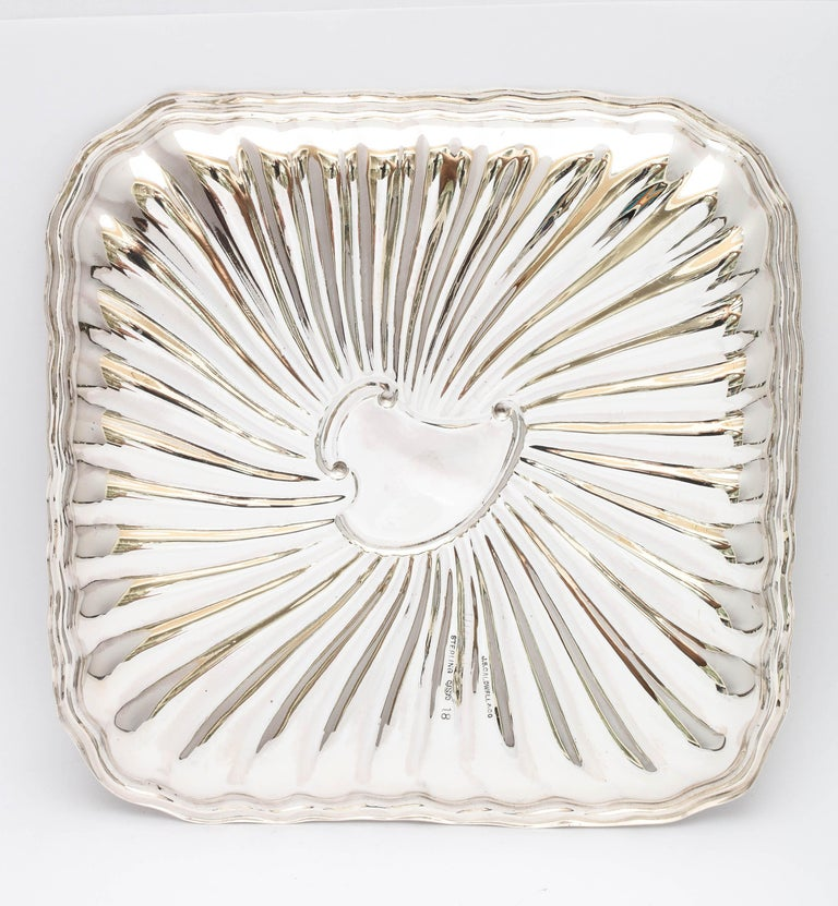 Edwardian Period Sterling Silver Card Tray, J.E. Caldwell For Sale 7