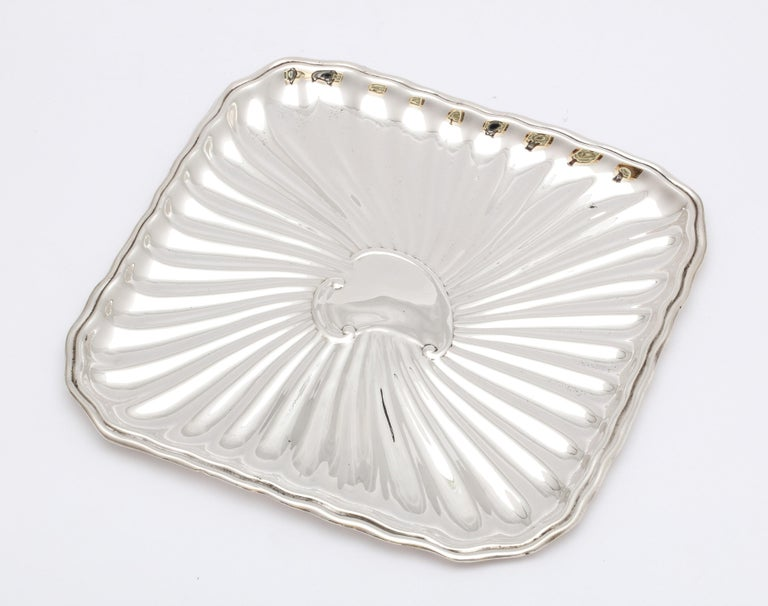 Edwardian Period Sterling Silver Card Tray, J.E. Caldwell For Sale 14