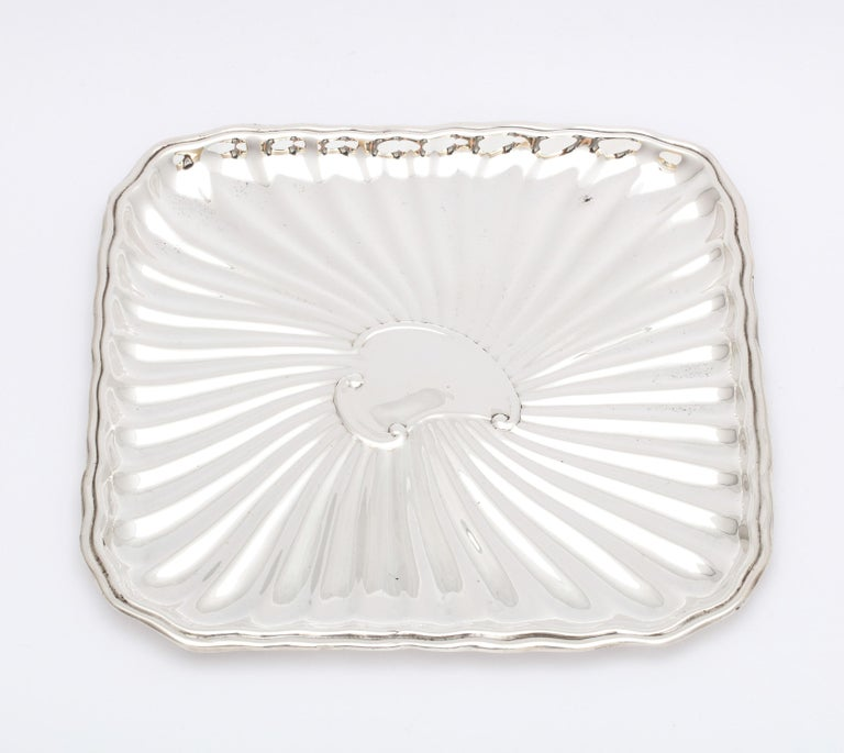 American Edwardian Period Sterling Silver Card Tray, J.E. Caldwell For Sale