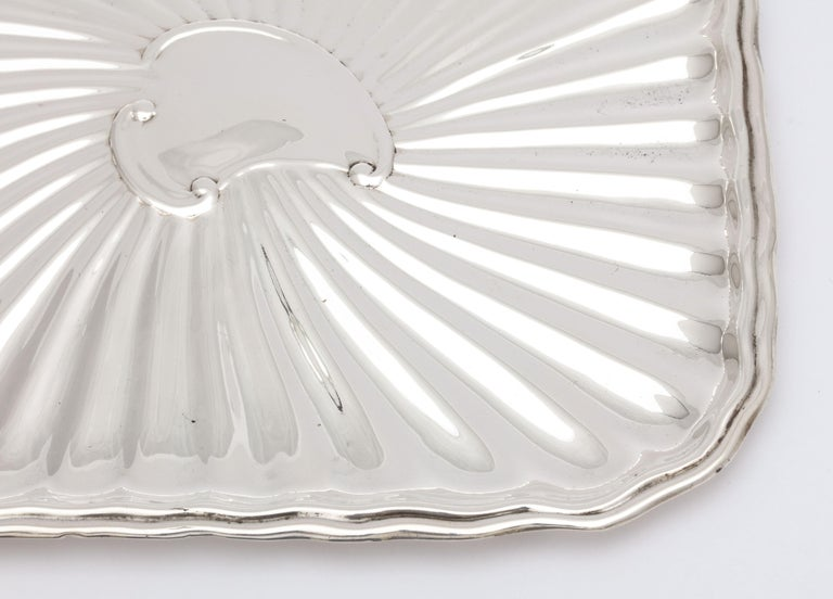 Edwardian Period Sterling Silver Card Tray, J.E. Caldwell In Good Condition For Sale In New York, NY