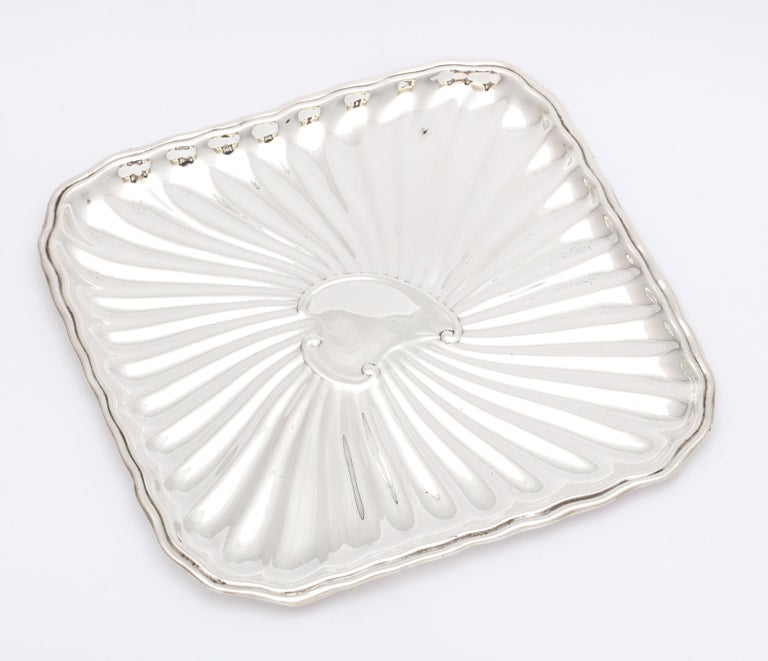 Edwardian Period Sterling Silver Card Tray, J.E. Caldwell For Sale 2