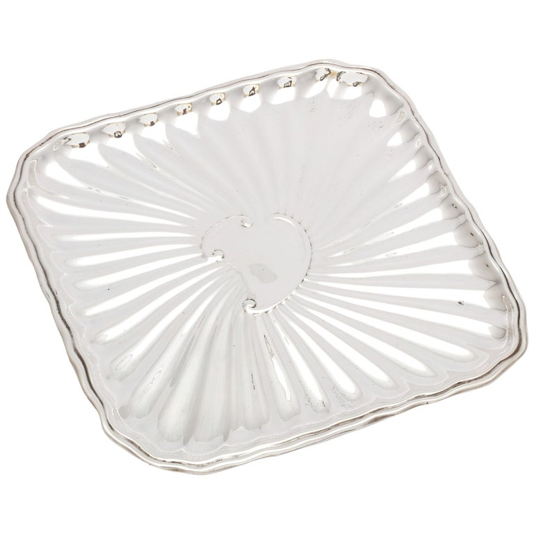 Edwardian Period Sterling Silver Card Tray, J.E. Caldwell For Sale