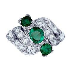 Edwardian, Platinum 3-Stone, Diamond Ring