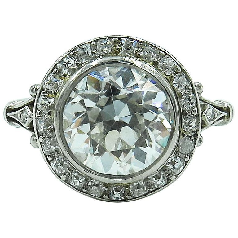 Edwardian Engagement Rings For Sale: Edwardian Platinum And Diamond Engagement Ring For Sale At