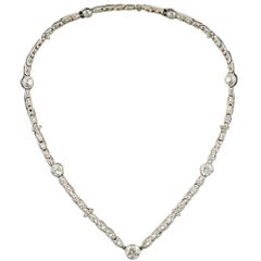 Edwardian Platinum Diamond Choker Necklace