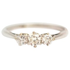 Edwardian Platinum Diamond Three-Stone Ring