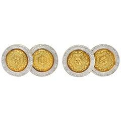 Edwardian Platinum-Topped 14 Karat Gold Men's Allsopp-Steller Inc. Cufflinks