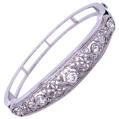 Edwardian Retrofitted Diamond Bangle Bracelet